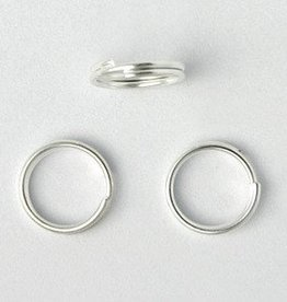 25 PC SP 8mm Split Ring