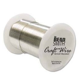 40 YD 28GA Non Tarnish Craft Wire : Silver