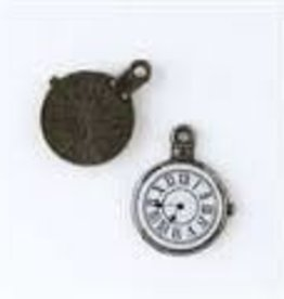 1 PC ABP 19x25mm Pocket Watch Clock Charm