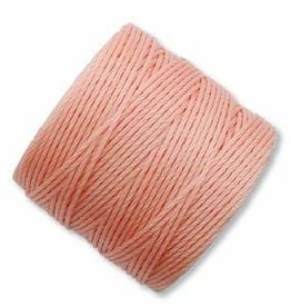 77 YD S-Lon Bead Cord : Coral Pink