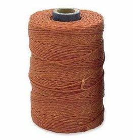 5 YD 4 PLY Irish Waxed Linen : Light Rust