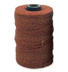 5 YD 4 PLY Irish Waxed Linen : Dark Rust