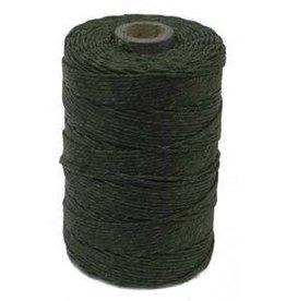 5 YD 4 PLY Irish Waxed Linen : Dark Emerald Green