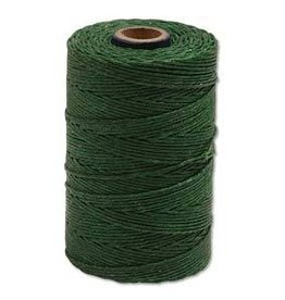 5 YD 4 PLY Irish Waxed Linen : Green