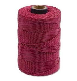 5 YD 4 PLY Irish Waxed Linen : Magenta
