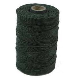 5 YD 4 PLY Irish Waxed Linen : Dark Forest Green