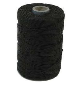 5 YD 4 PLY Irish Waxed Linen : Black
