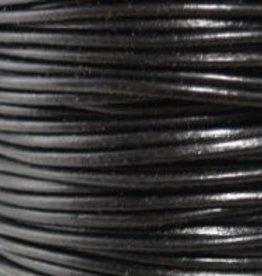2 YD 1mm Leather Cord : Black
