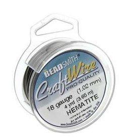 15 YD 28GA Craft Wire : Hematite