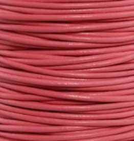 2 YD .5mm Leather Cord : Pink