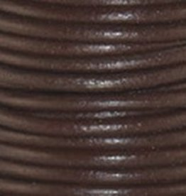 2 YD .5mm Leather Cord : Chocolate