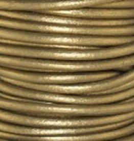 11 YD .5mm Leather Cord : Metallic Tota