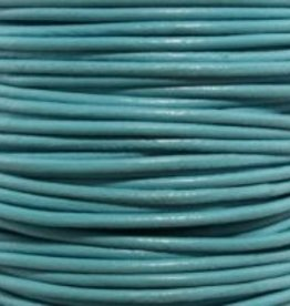 2 YD .5mm Leather Cord : Turquoise
