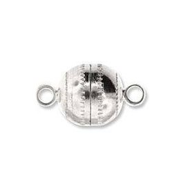 4 PC SP 11x8mm Round Magnetic Clasp