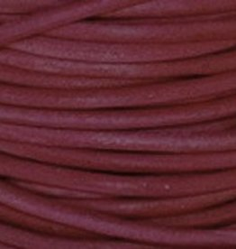 2 YD 2mm Leather Cord : Natural Cyclaman
