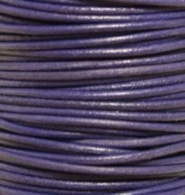 11 YD 2mm Leather Cord : Violet