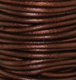 2 YD 2mm Leather Cord : Metallic Tamba