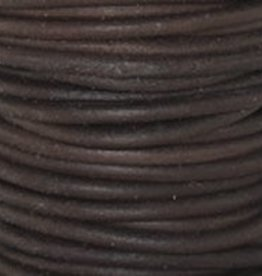 2 YD 2mm Leather Cord : Natural Antique Brown
