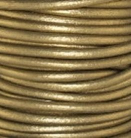 2 YD 2mm Leather Cord : Metallic Tota