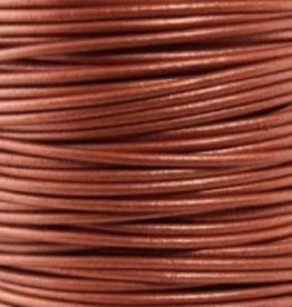 11 YD 2mm Leather Cord : Metallic Copper