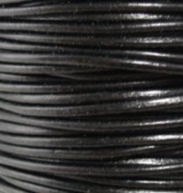 2 YD 3mm Leather Cord : Black