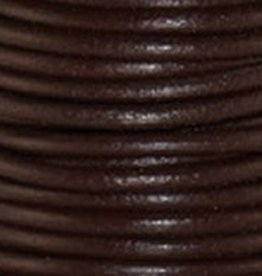 2 YD 3mm Leather Cord : Red Brown