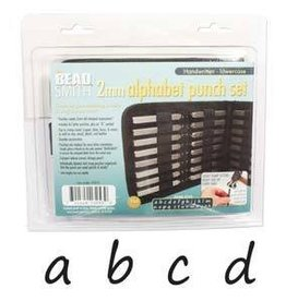 27 PC 2mm Handwritten Lowercase Letter Punch Set with Case