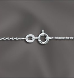"1 PC 24"" Sterling Silver Filed Curb Chain w/ Springring"