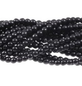 "Magnesite Dyed Black : 6mm Round 15.5"" Strand"