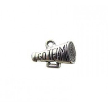 "1 PC ASP 10x15mm Megaphone ""Go Team"" Charm"