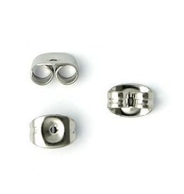 20 PC Stainless Steel 5x4mm Earnut