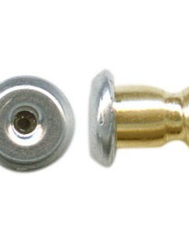 10 PC RP/GP 5mm Bullet Earring Back