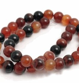 "Natural Agate : 8mm Round 15.5"" Strand"