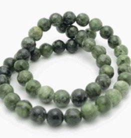 """Nephrite Jade : 6mm Round 15.5"""" Strand"""
