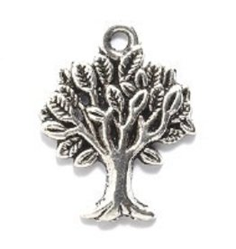 2 PC ASP 17x22mm Tree Charm