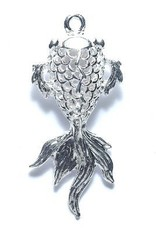 1 PC SP 20x46mm Filigree Fish Charm