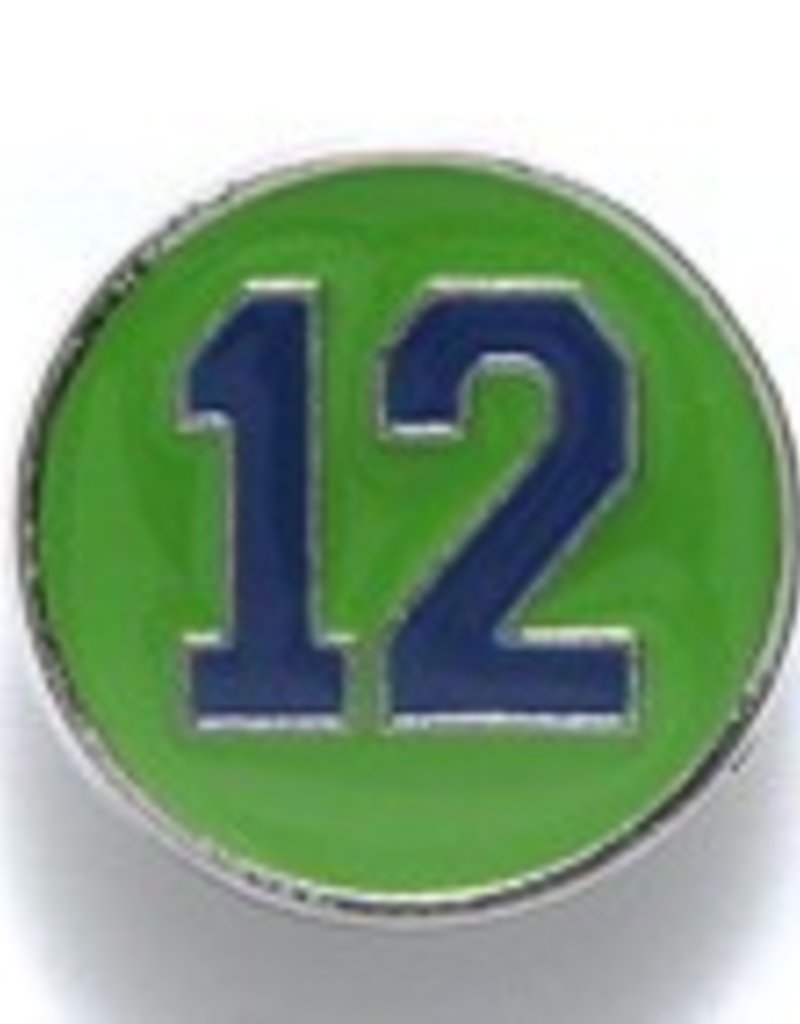 1 PC 15mm #12 Button Blue on Green