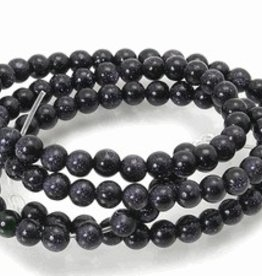 "Blue Goldstone : 4mm Round 15.5"" Strand"