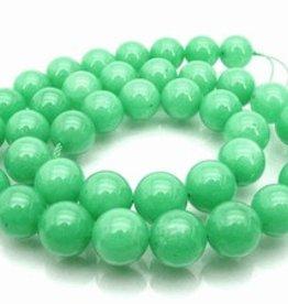 "Green Jade : 8mm Round 15.5"" Strand"