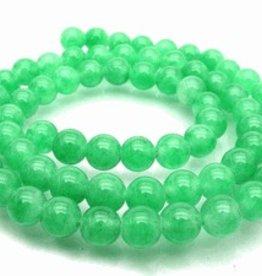 "Green Jade : 6mm Round 15.5"" Strand"