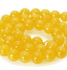 """Chalcedony Yellow : 8mm Round 15.5"""" Strand"""