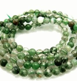 "Moss Agate: 6mm Round 15.5"" Strand"