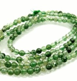 "Moss Agate : 4mm Round 15.5"" Strand"