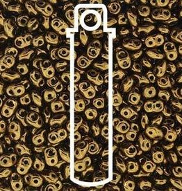 8 GM 2x4mm MiniDuo : Crystal Gold Bronze (APX 170 PCS)