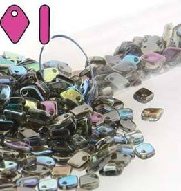 9.5 GM 1.5x5mm Dragon Scale : Crystal Graphite Rainbow (APX 260 PCS)