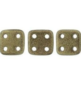 10 GM 6x6mm Quadratile : Metallic Suede Gold (APX 80 PCS)