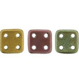 10 GM 6x6mm Quadratile : Matte Metallic Bronze