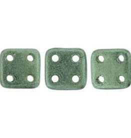 10 GM 6x6mm Quadratile : Metallic Suede Light Green (APX 80 PCS)