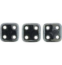10 GM 6x6mm Quadratile : Jet Hematite (APX 80 PCS)