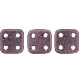 10 GM 6x6mm Quadratile : Metallic Suede Pink (APX 80 PCS)